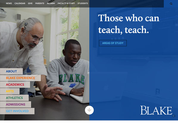 The Blake School Private School Website Design