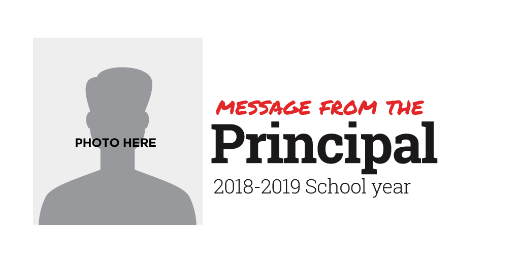 Message from the Principal Template