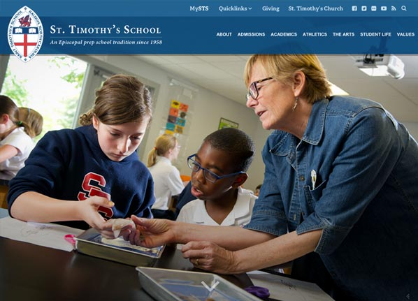 St. Timothy's School Website Design