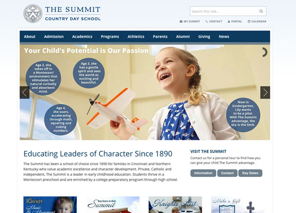 Summit Country Day Private School Website Design