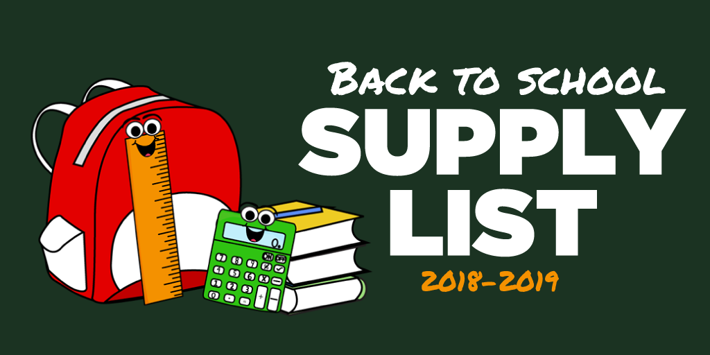 Back to School Supply List Template