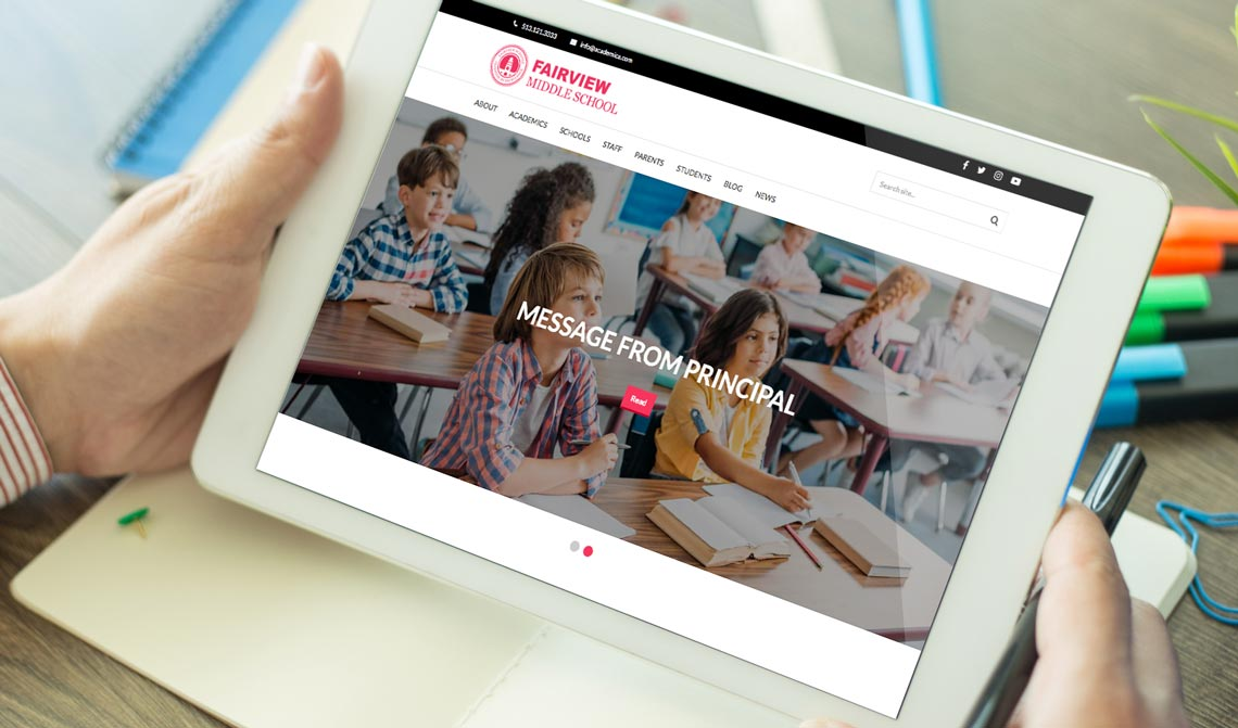 Fairview School Website Design Theme