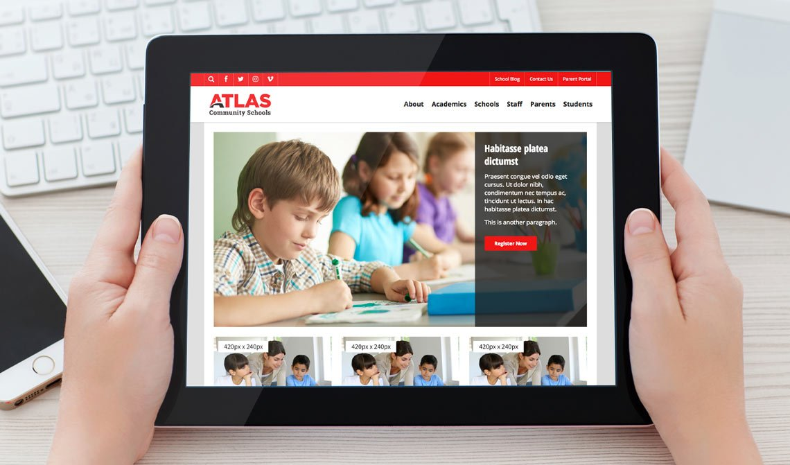 Atlas School Website Design Theme