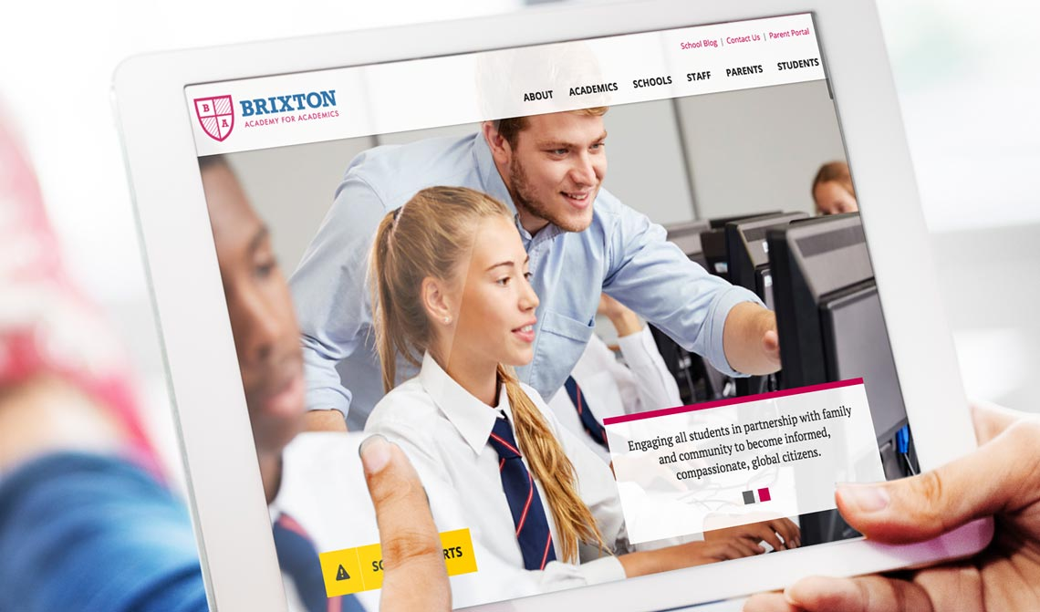 Brixton School Website Design Theme