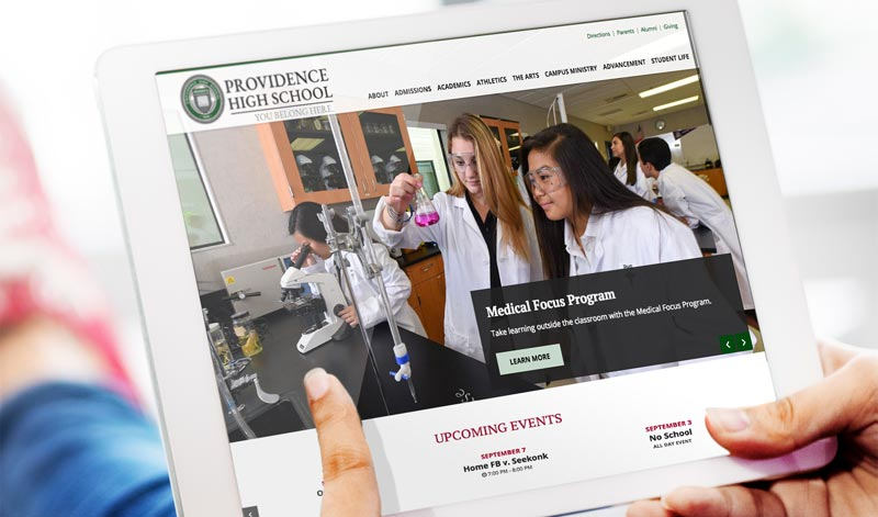 Providence School Website Design