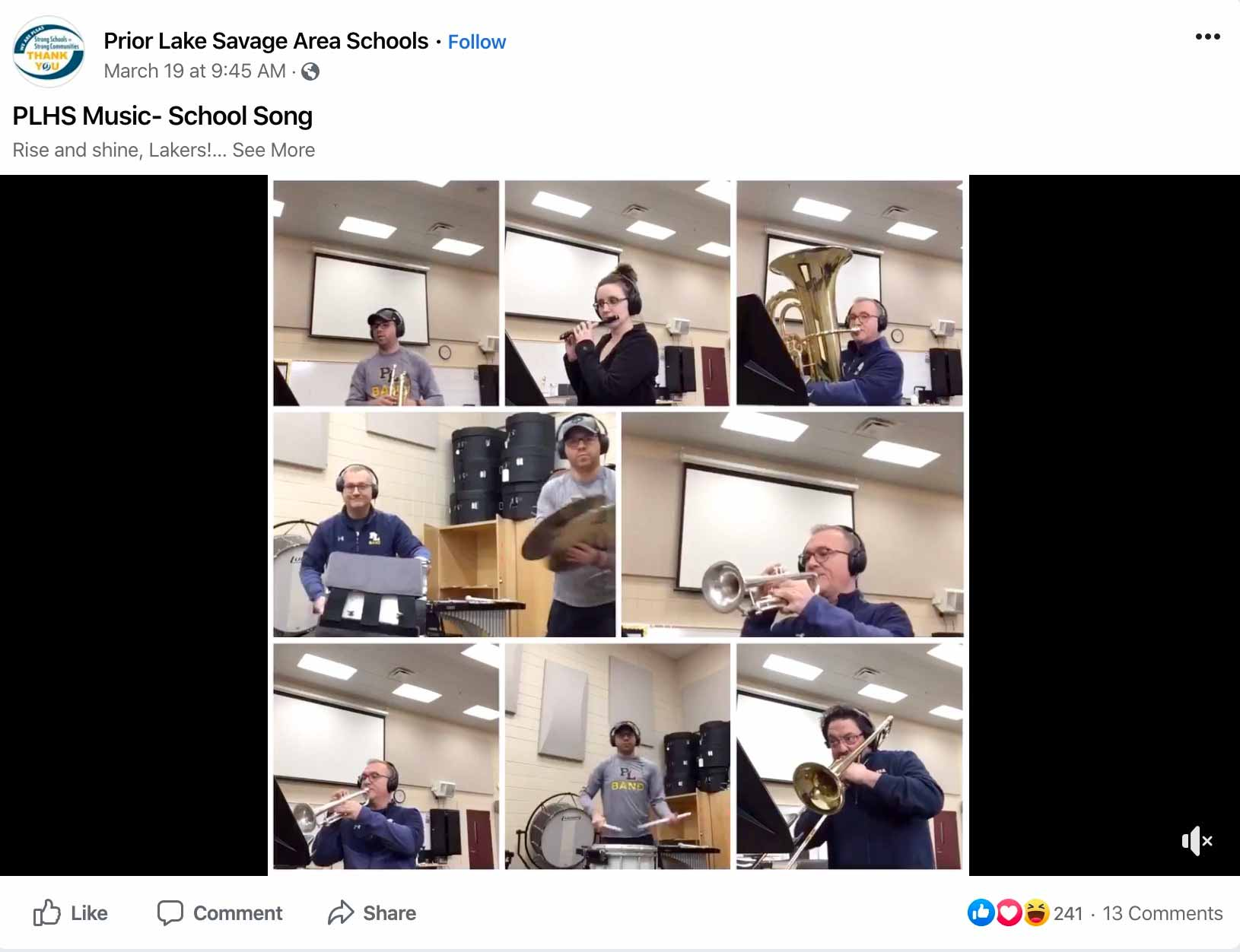 school-facebook-video-band
