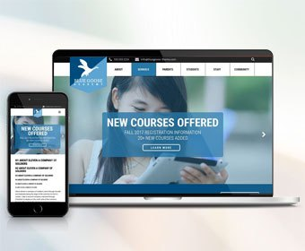 Read New School Website Design Themes by Campus Suite