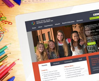 Read User-centric Website Earns D64 School Website Award