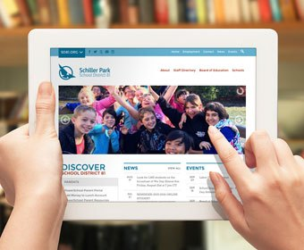 school-home-page-design